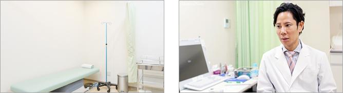 1.まず医師が診察し、HAGR療法の適応かどうか診断を行います。